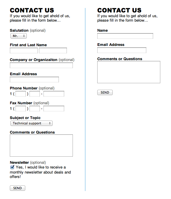 Contact Form Fatigue