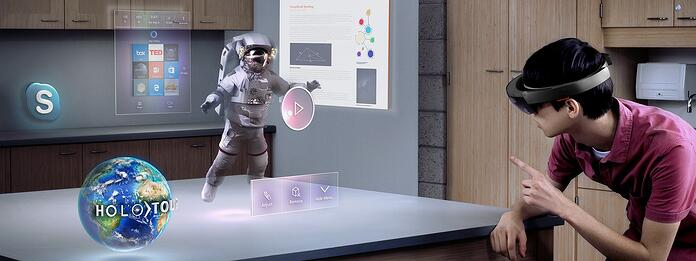 Microsoft Hololens in action