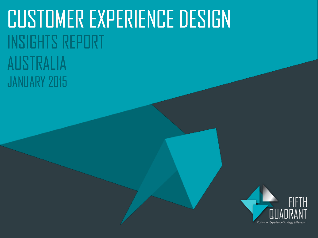 Customer Experience Design Report cover