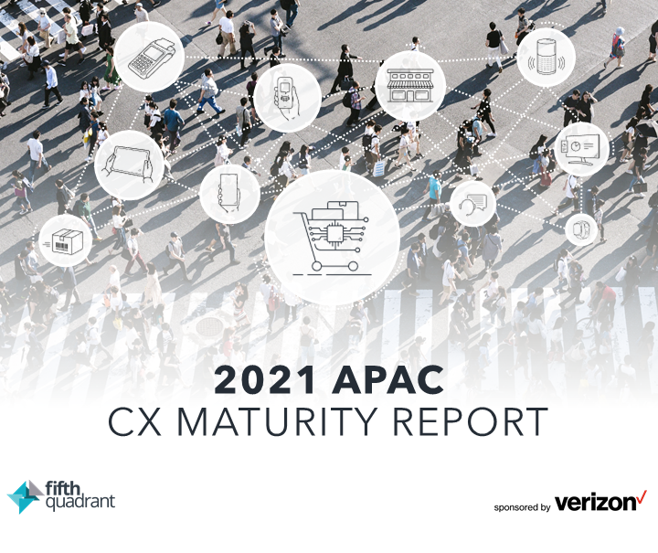 The 2021 APAC CX Maturity Report Cover SQR